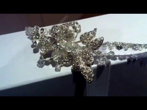 Zoe, bridal side tiara.