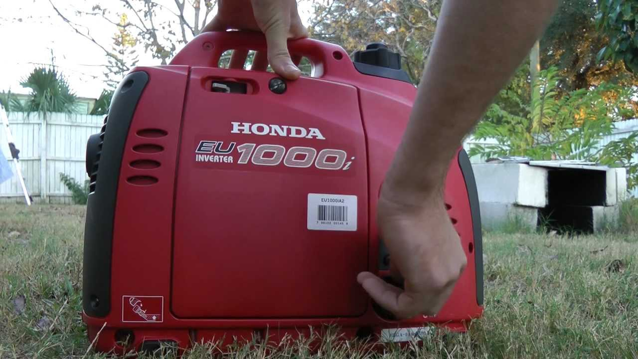 Honda eu1000i generator (testing review noise) - YouTube