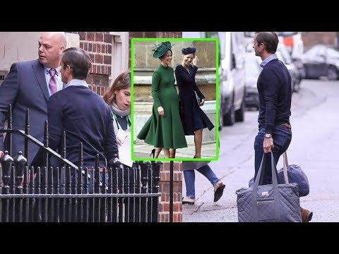 Pippa Middleton is spotted arriving into the Lindo Wing with husband James at St Mary's Hospital