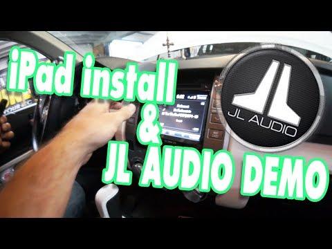 AMPLIFIED - Nissan Patrol iPad dash mod and JL Audio FIX 86/TWK system demo Toyota Tundra