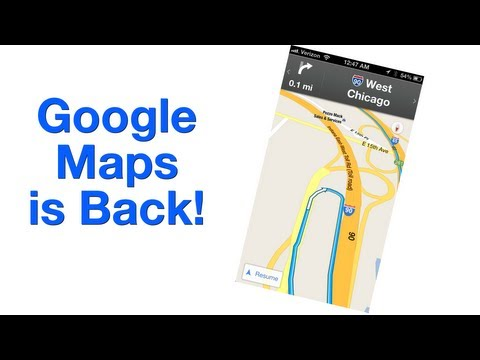 Google Maps is Back on iOS!