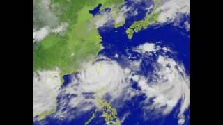 莫拉克MORAKOT颱風衛星雲圖影片-彩色版-20090806-0810