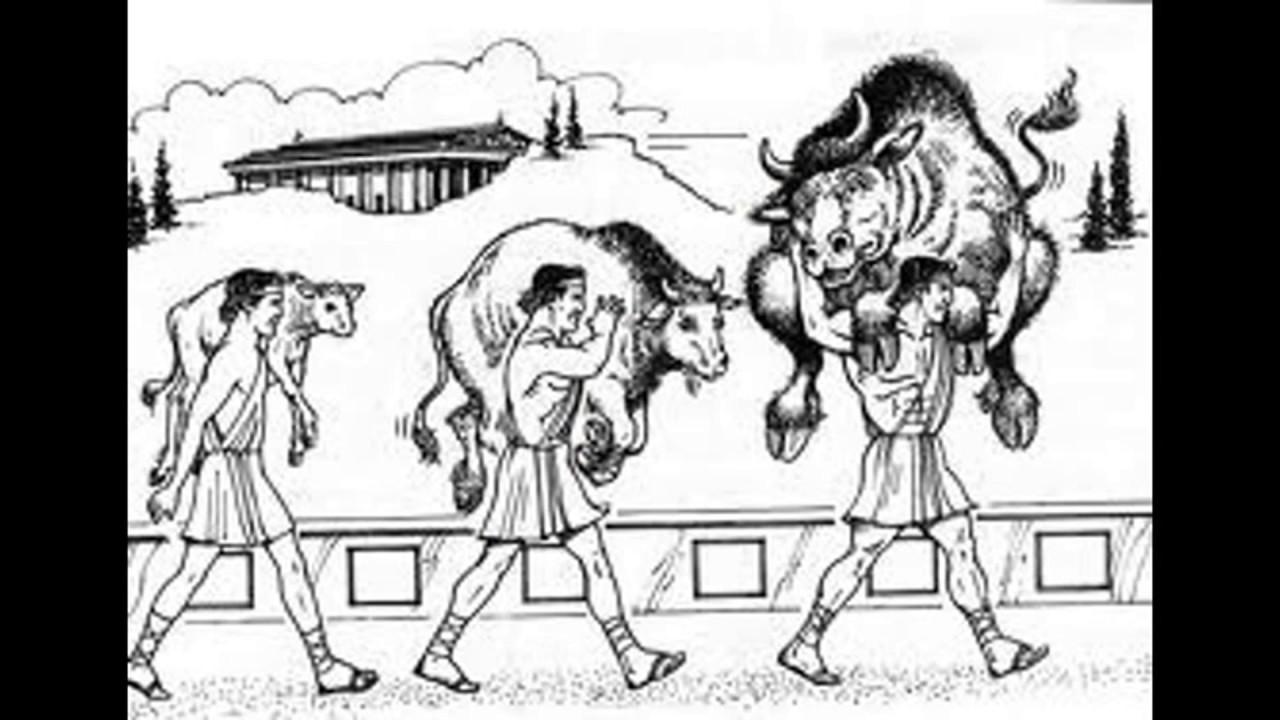 Znalezione obrazy dla zapytania Milon z Krotonu