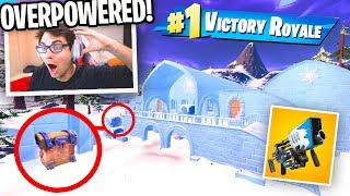 I only use loot from the *NEW* CHRISTMAS LOCATION in Fortnite! (Christmas Update)