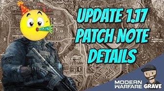 Modern Warfare Update 1.17 Patch Note Details