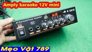 Amply karaoke 12V mini 620k ( Zalo 0355 774 789 )