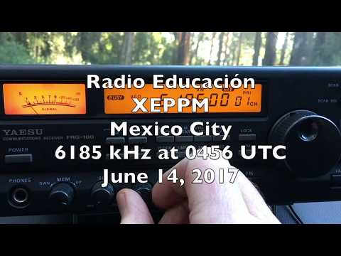 Radio Educación, Mexico City 6185 kHz at 0500 UTC
