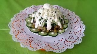 Салат «Выпускной». Картофель «фри» с грибами.
