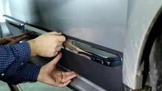 видео Хром накладки на стойки дверей. Металл. НА любые АВТО