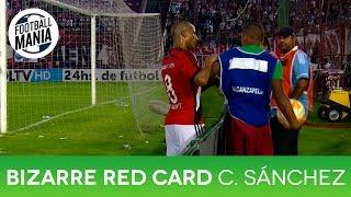 Bizarre Red Card - Carlos Sánchez vs. Ball Boy - River Plate vs. Huracán