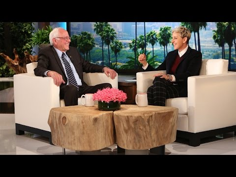 Ellen Puts Bernie Sanders in the Hot Seat