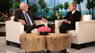 Ellen Puts Bernie Sanders in the Hot Seat
