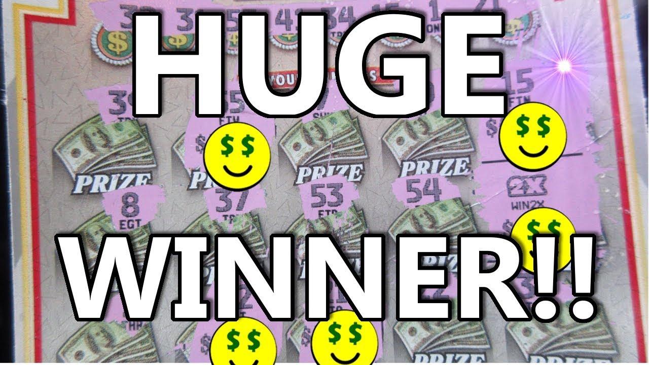 HUGE WINNER!! BIGGEST SCRATCH-OFF LOTTERY TICKET WIN I'VE EVER GOT!!