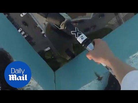 Daredevil Rides His Scooter Atop A Moscow Skyscraper