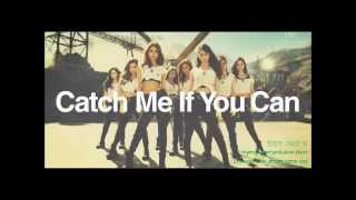 SNSD Catch Me If You Can Korean Version English Hangul Romanization Colour Coded