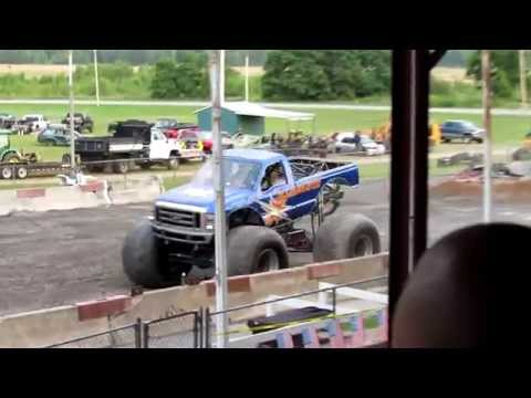 Illuminator Monster Truck Freestyle 2014 At Clinton County Fairgrounds In Plattsburgh, NY