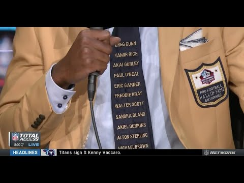 Randy Moss, Induction to Hall of Fame pays Tribute to Victims of Police Violence...