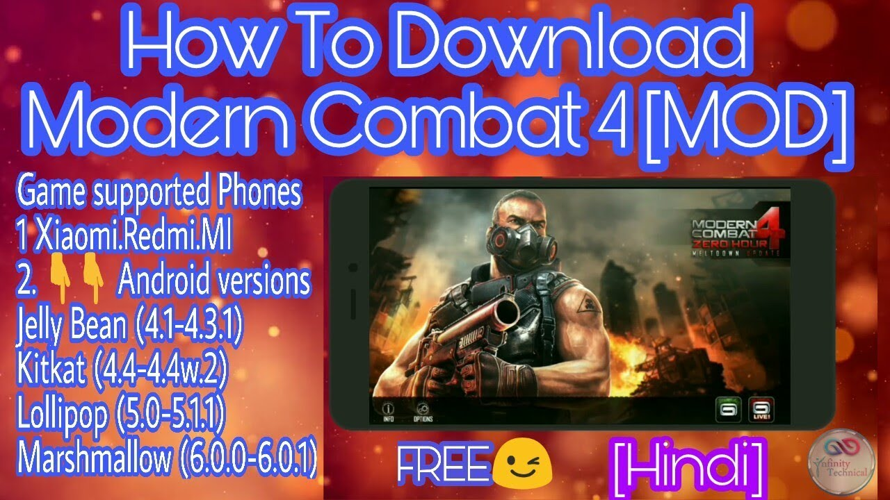 How To Download Modern Combat 4 Mod Apk Data Youtube