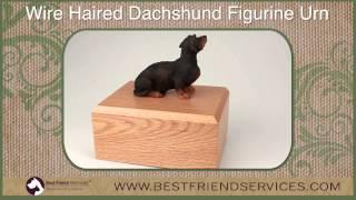 Dachshund Wire Haired Figurine Pet Urn