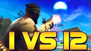 1 VS 12 CLUTCH (21 KILLS in 50v50 MODE!) Fortnite: Battle Royale | TBNRKENWORTH
