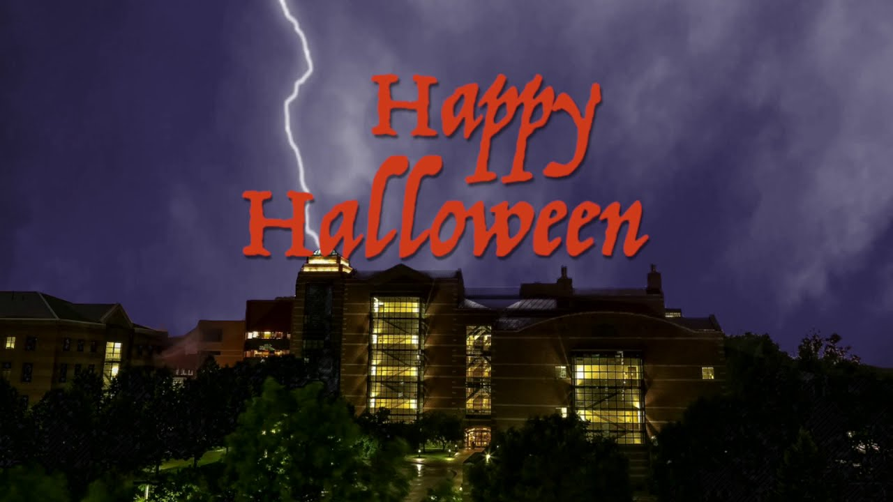 A screenshot from Halloween Greeting from Beckman Institute