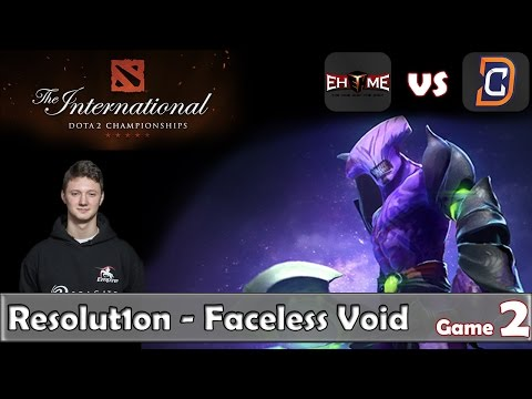 Resolut1on - Faceless Void | EHOME vs DC Game 2 | Lower Bracket TI6