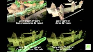 Pix4D Comparison - DJI Phantom2 Vision / SonyA7R 16mm fisheye / Laser scan