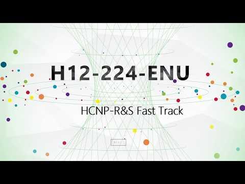 [100% Pass] HCNP-R&S Fast Track H12-224-ENU practice exam|CertTree Training Material