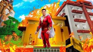 Aparece Shazam Y Destruye Mi Casa En Minecraft 😱