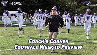 Coach's Corner with Eli Gardner: Week 10 Preview vs Pace