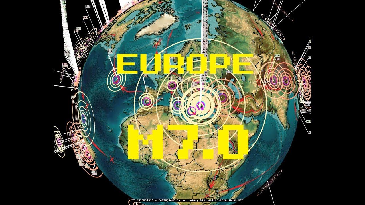 10/30/2020 -- Massive M7.0 earthquake strikes Europe / Turkey -- Major damage across region