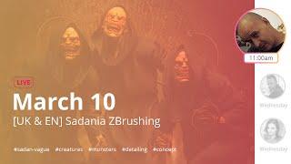 [UA & EN] Sadania ZBrushing: Character Design - Sadan Vague - ZBrush 2020
