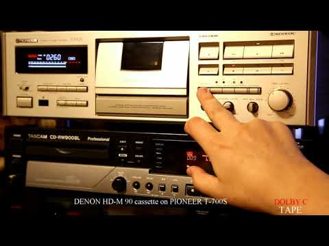 PIONEER T-700S With DENON HD-M 90 Cassette (1991-93 Year)