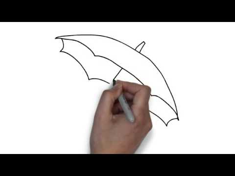 How to draw umbrella