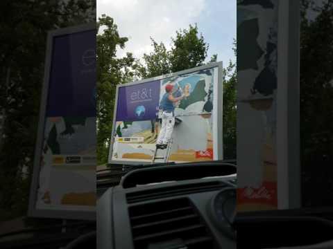 How to do ,,Outdoor Advertising'' in Germany / Как делают рекламные баннеры  в Германии