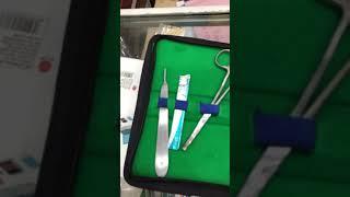 Bộ tiểu phẫu bộ dụng cụ y tế 11 món