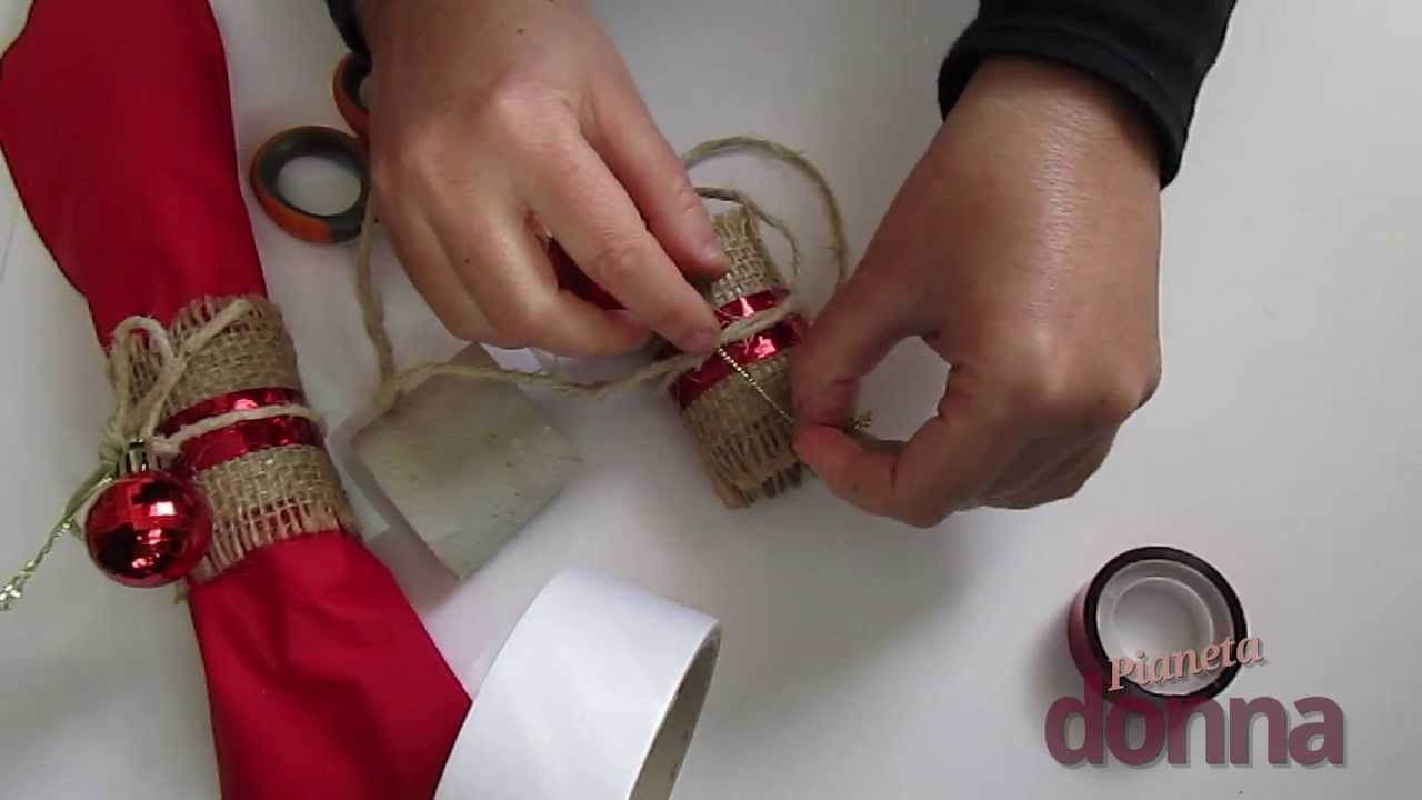 Molto Portatovaglioli natalizio: ecco come realizzarlo - YouTube VJ07