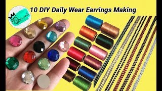 10 DIY Daily wear earrings for college going and working women