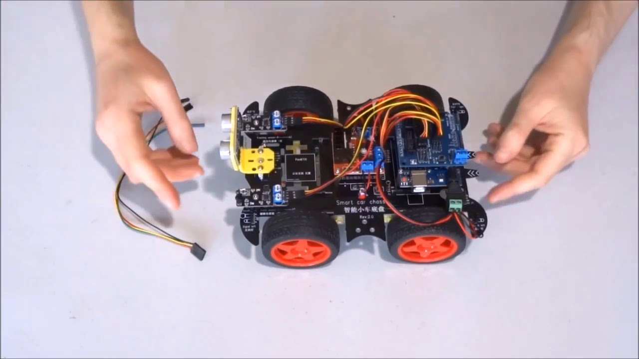Assemble kuman smart car arduino robot kit sm step