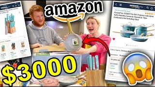 $3000 AMAZON KITCHEN MAKEOVER!!! Gold & Blue Kitchen Makeover  2021 (Part 1)