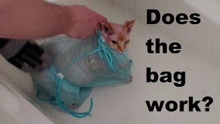 Do Cat Bags Work For Violent Bath Cats?