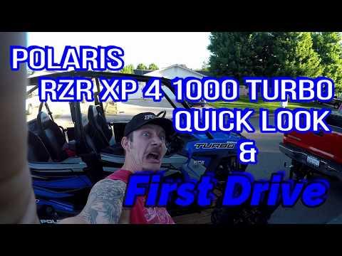 Polaris RZR XP 4 1000 Turbo Quick Look & First Drive