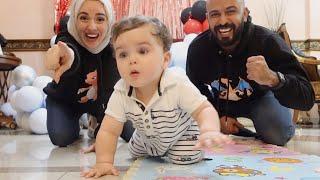 أول مره بيبي خالد يحبي ( يزحف) 👶🏻😱 قمة الكياته😍