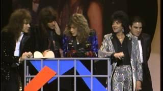 Bon Jovi Wins Favorite Pop/Rock Group - AMA 1988