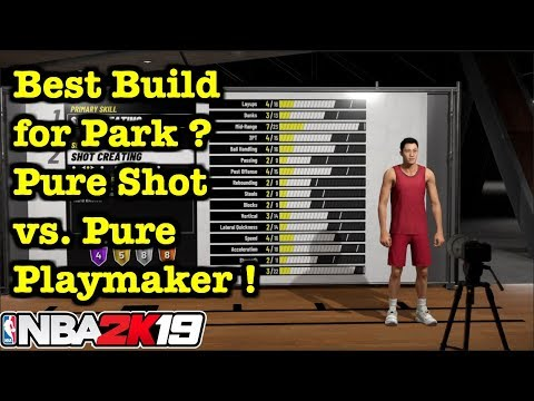 NBA 2K19 OVERPOWERED MyPlayer Build for Park Pure Shot Creator vs Pure Playmaker Best Archetype #16