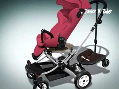 Sit Or Stand Stroller Board Englacha 2 In 1 Junior X Rider Feature Review