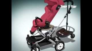 Sit or Stand Stroller Board: Englacha 2 In 1 Junior X Rider Feature Review