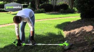 greenworks 2100007 a 24v deluxe trimmer edger