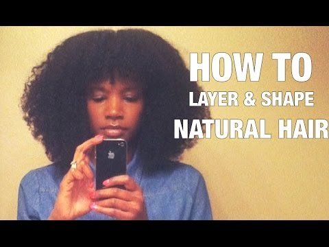 How To Cut Layers Shape Natural Hair Nik Scott Youtube