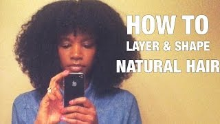How to cut layers & shape natural hair | Nik Scott
